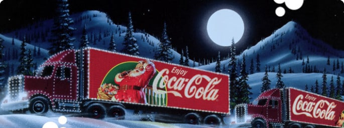 Coca Cola Christmas truck