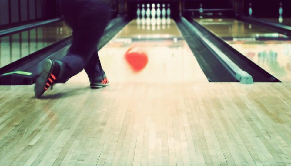 Bowling lane and bowler