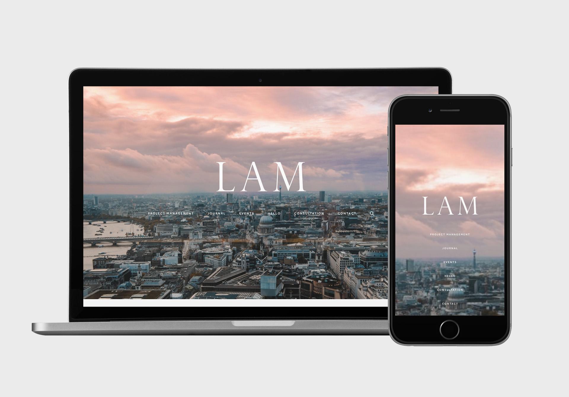 LAM WordPress website