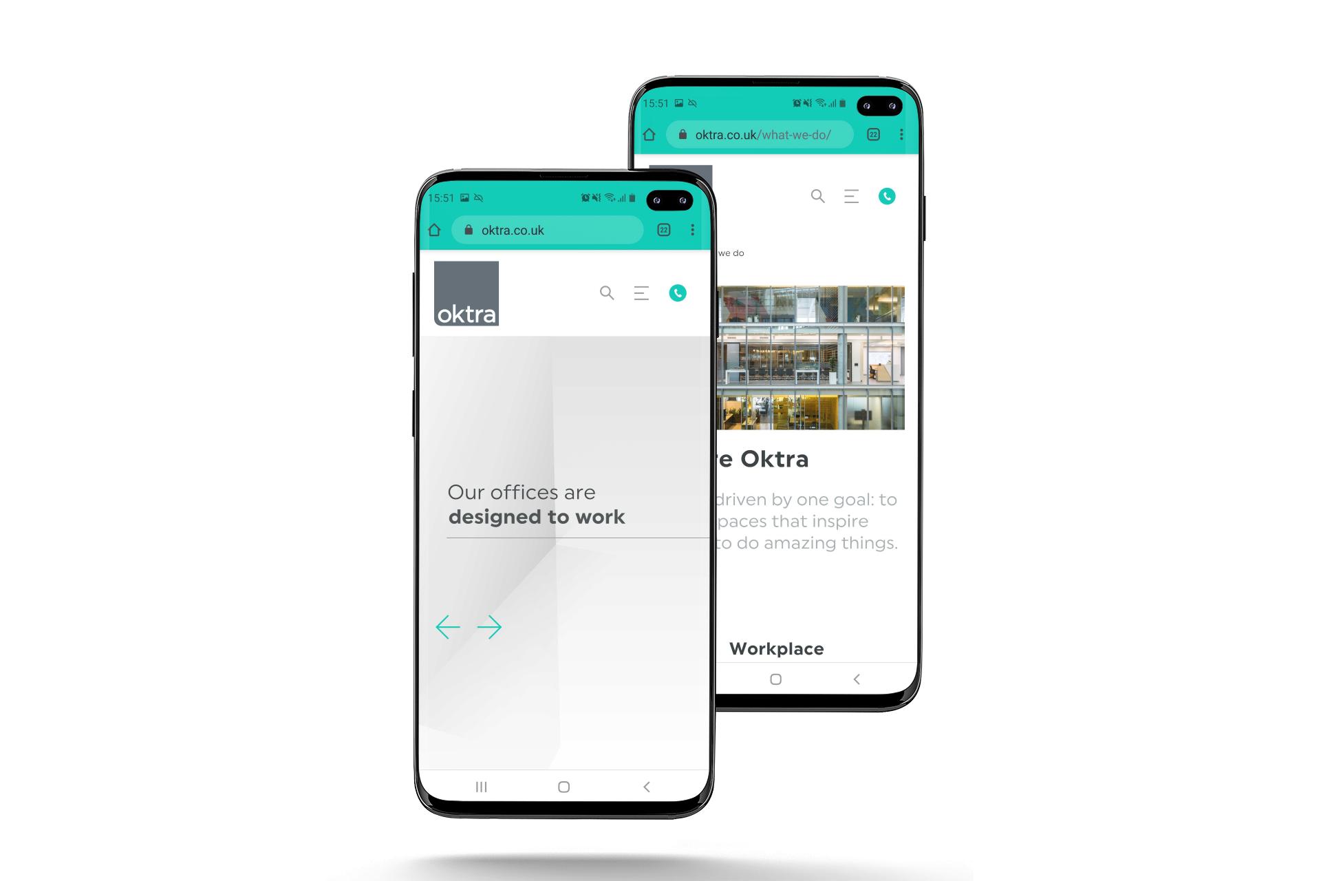 Oktra website design
