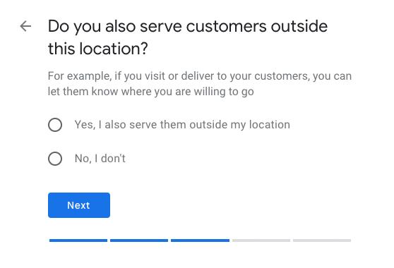 Google My Business - set location